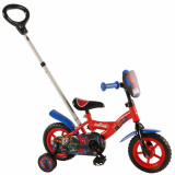 Vélo Disney Spiderman 10 pouces avec canne parentale