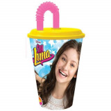 Gobelet + paille Soy Luna Disney verre plastique fille
