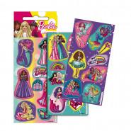 Lot 3 planche de Stickers Barbie Autocollant 12 x 6 cm NEW