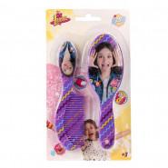 Brosse + peigne Disney Soy Luna enfant violet