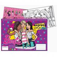 Cahier de dessin, livre de coloriage A4 + Stickers Barbie