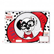 Cahier de dessin 101 Dalmatiens livre de coloriage Stickers Regle Pochoir Disney
