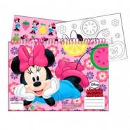 Cahier de dessin, livre de coloriage A4 + Stickers Minnie