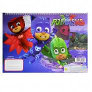 Cahier de dessin PJ Masks livre de coloriage Stickers Regle Pochoir Disney