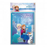 Journal intime La reine des Neiges carnet secret Frozen bleu