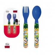 Couvert, cuillere et fourchette Mickey Mouse Bleu