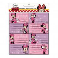 Lot de 16 étiquette Minnie Mouse Disney cahier enfant ecole