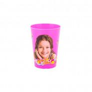Gobelet Soy Luna Disney verre plastique enfant rose