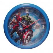 Horloge murale Avengers montre bleu clair