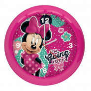 Horloge murale Minnie Mouse montre rose 2