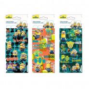 Lot 3 planche de Stickers Les Minions Autocollant 12 x 6 cm