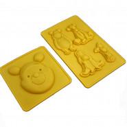2 moule en silicone Winnie l'Ourson  pour chocolat glaçon gateau