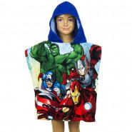 Poncho de bain Disney Avengers, cape pour enfant bleu