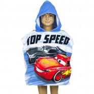 Poncho de bain Disney Cars, cape pour enfant bleu
