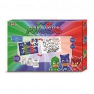Coffret de jeu PJ Masks, Puzzle 24 pieces, coloriage