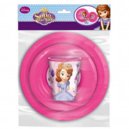 Set dejeuner Princesse Sofia assiette verre repas enfant Disney