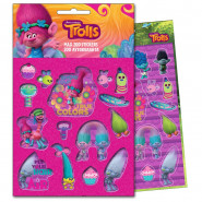 200 stickers Les Trolls Disney enfant