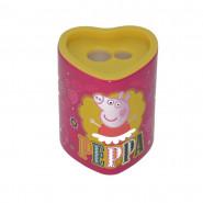 Taille crayon avec reservoir Peppa Pig 2 trous coeur jaune