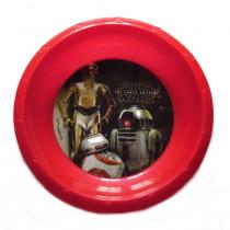 Assiette plastique creuse Star Wars repas enfant R2D2