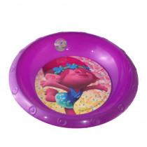 Assiette plastique creuse Les Trolls Poppy repas enfant violet