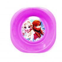 Assiette plastique creuse La Reine des Neiges violet
