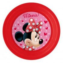 Assiette plastique plate Minnie repas enfant jav