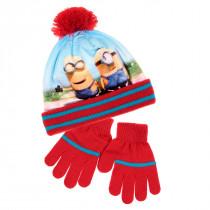 Bonnet Gants Les Minions Rouge Taille 52 Disney enfant