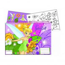 Cahier de dessin, livre de coloriage A4 + Stickers La Fée Clochette