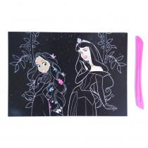 Carte à gratter Disney Princesse Scratch cards enfant 15 x 21 cm mod 1