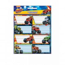 Lot de 16 étiquette Blaze et les Monster Machines Disney cahier enfant