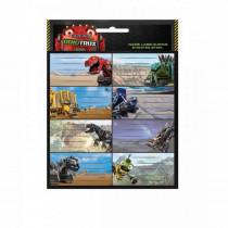 Lot de 16 étiquette Dinotrux Disney cahier enfant