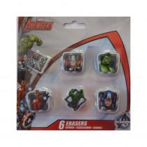 Lot de 6 gomme Avengers Disney enfant