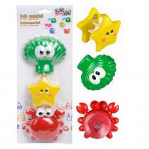 Set de jouet de bain avec ventouse bébé enfant 2