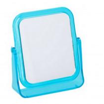 Miroir grossissant x 2 à poser maquillage bleu