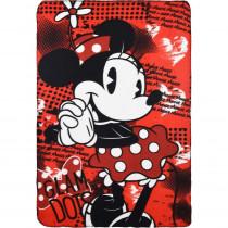 Plaid polaire Minnie Mouse Couverture Glam Dots