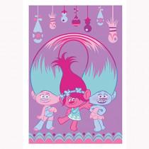 Plaid polaire Les Trolls Poppy jumeau