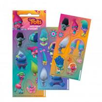 Lot 3 planche de Stickers Les Trolls Paillette Autocollant Disney 12 x 6 cm scrapbooking Poppy Branche