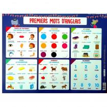 Sous main Anglais Ecole enfant couleur nombre animaux