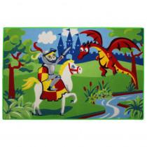 Tapis enfant Chevalier Dragon 120 x 80 cm chambre
