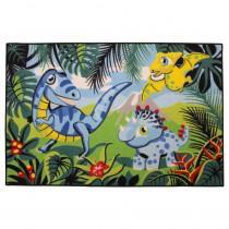 Tapis enfant Dinosaure 120 x 80 cm chambre