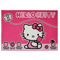 Tapis enfant Hello Kitty 133 x 95 cm Papillon