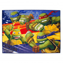 Tapis enfant Les Tortues Ninja 133 x 95 cm Disney Ninja Turtles