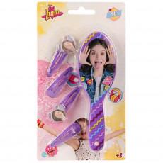 Brosse + 4 barrette Disney Soy Luna enfant violet barette