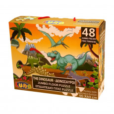 Puzzle 48 pieces Dinosaure piece XL 60 x 90 cm Geant