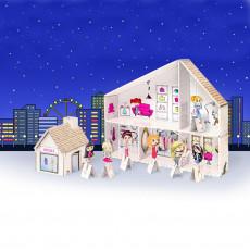 Salon de beauté en carton, a construire maison