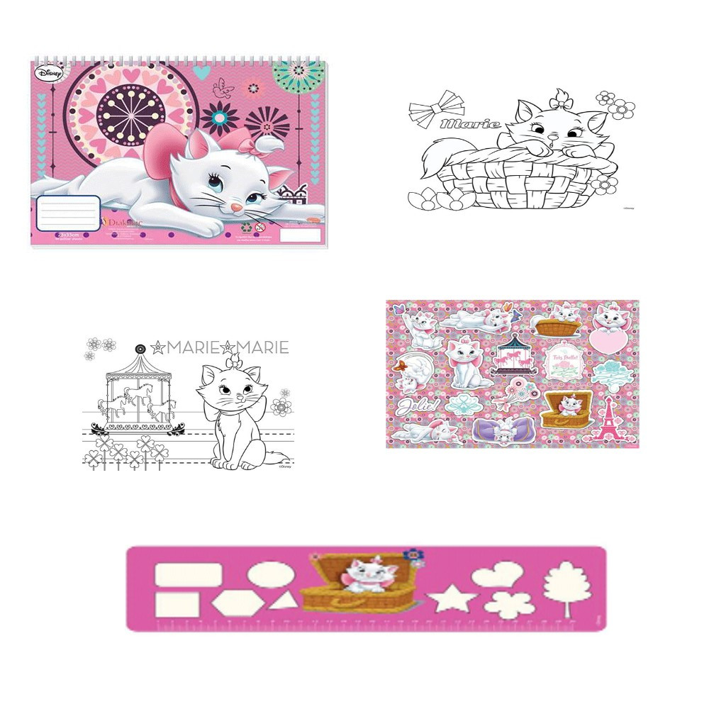 Cahier de dessin aristochats livre de coloriage stickers - Cahier de coloriage disney ...