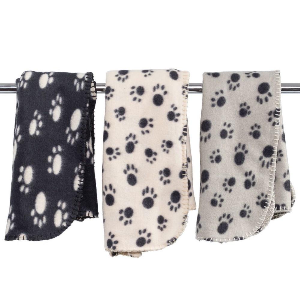 couverture polaire plaid pour chien chat 70 x 70 cm panier corbeille voiture canap noir. Black Bedroom Furniture Sets. Home Design Ideas