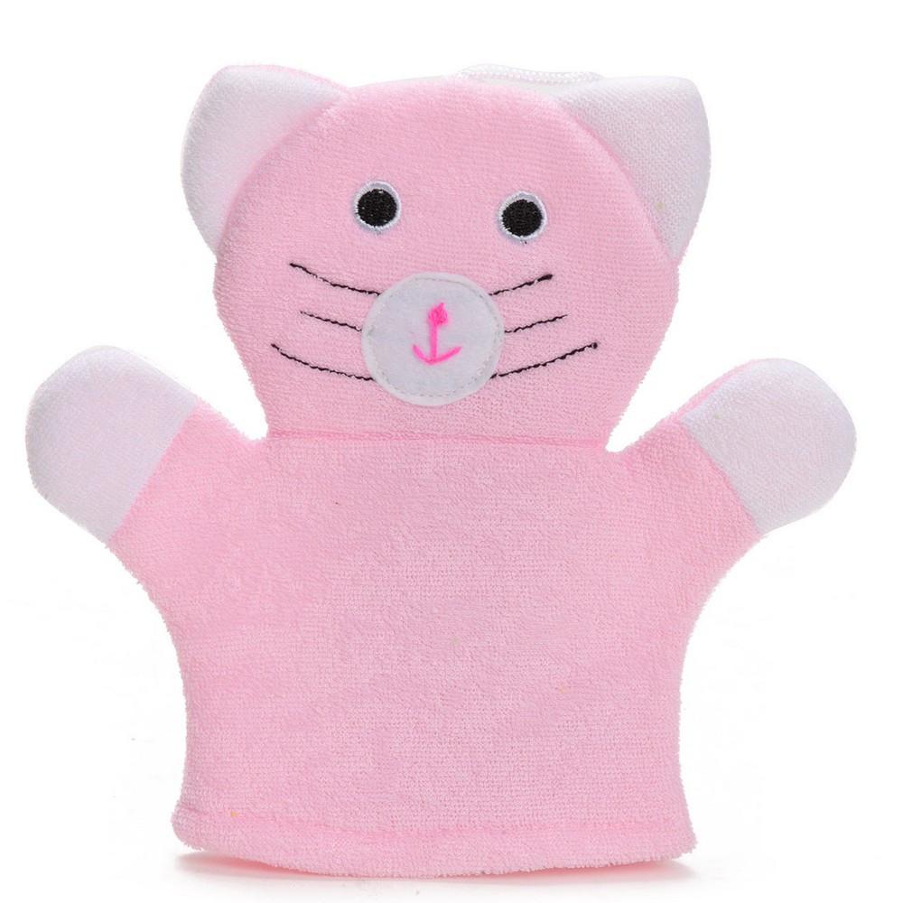 Gant de toilette chat enfant b b salle de bain loulomax - Porte gant de toilette ...