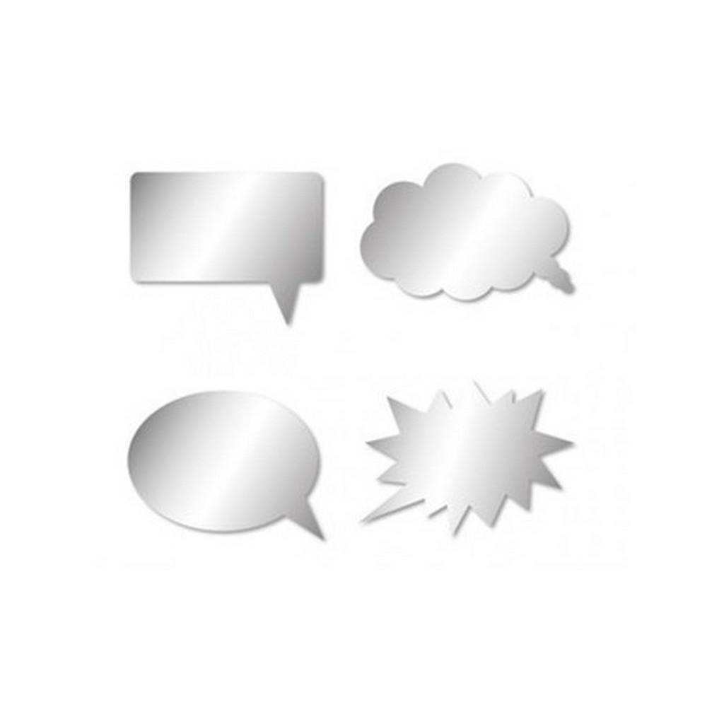 Stickers miroir bulle de bd nuage autocollant salle de for Stickers pour miroir salle de bain