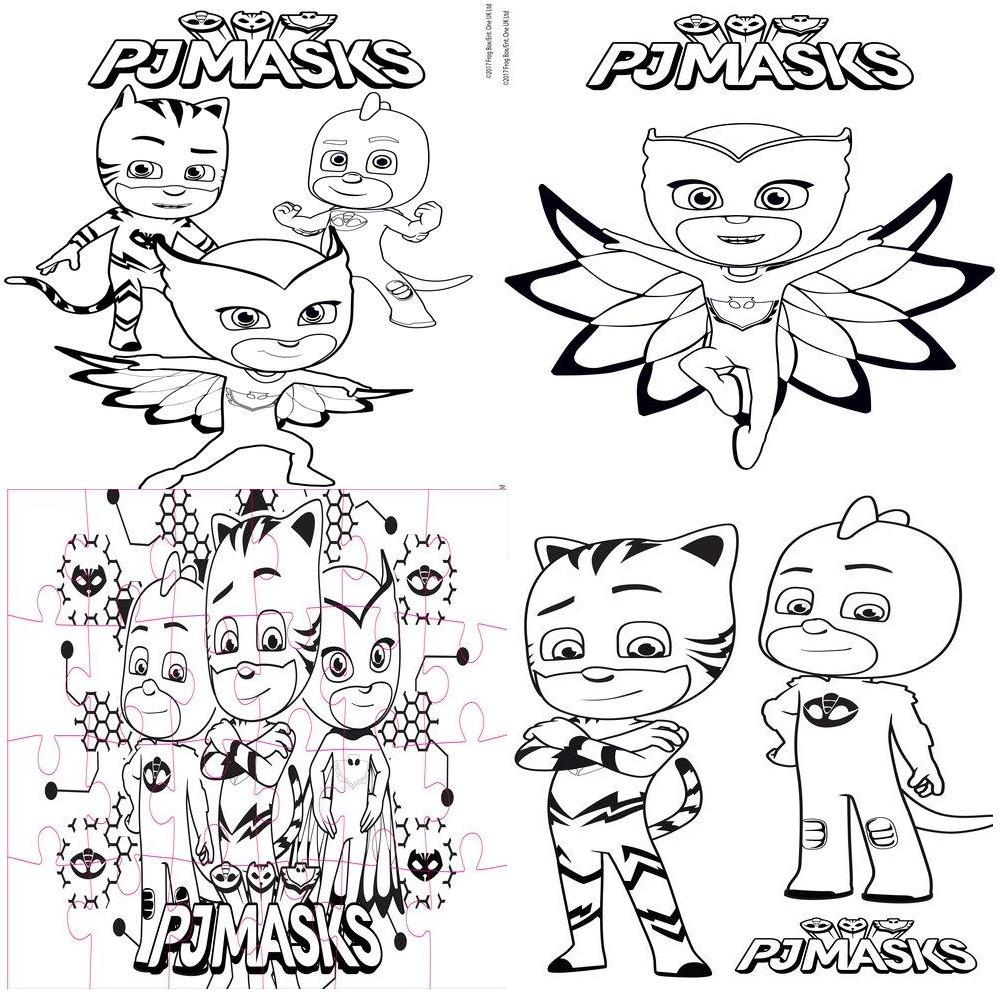 Coffret de jeu pj masks puzzle 24 pieces coloriage puzzles loulomax - Puzzle dessin ...